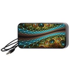 Fractal Snake Skin Portable Speaker (Black)