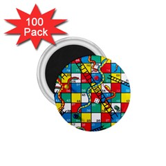 Snakes And Ladders 1.75  Magnets (100 pack)