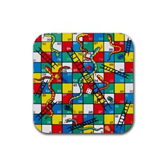 Snakes And Ladders Rubber Coaster (Square)