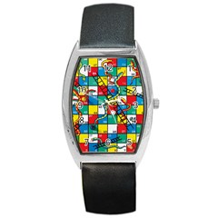 Snakes And Ladders Barrel Style Metal Watch