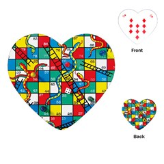 Snakes And Ladders Playing Cards (Heart)