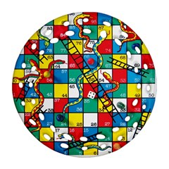 Snakes And Ladders Ornament (Round Filigree)