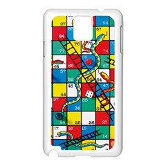 Snakes And Ladders Samsung Galaxy Note 3 N9005 Case (White)