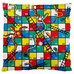 Snakes And Ladders Large Flano Cushion Case (Two Sides)