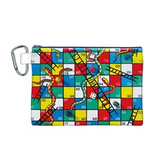 Snakes And Ladders Canvas Cosmetic Bag (M)