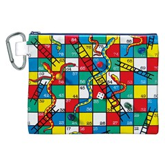Snakes And Ladders Canvas Cosmetic Bag (XXL)