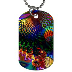 Colored Fractal Dog Tag (One Side)