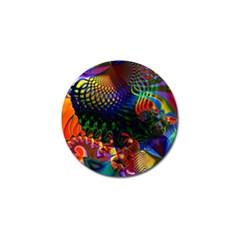 Colored Fractal Golf Ball Marker (4 pack)