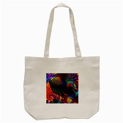Colored Fractal Tote Bag (Cream)