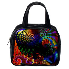 Colored Fractal Classic Handbags (One Side)