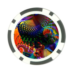 Colored Fractal Poker Chip Card Guard (10 pack)