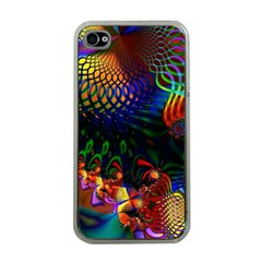 Colored Fractal Apple iPhone 4 Case (Clear)
