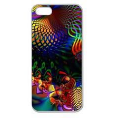 Colored Fractal Apple Seamless iPhone 5 Case (Clear)