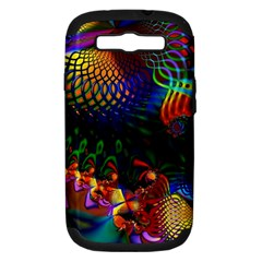 Colored Fractal Samsung Galaxy S III Hardshell Case (PC+Silicone)