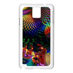 Colored Fractal Samsung Galaxy Note 3 N9005 Case (White)