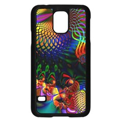 Colored Fractal Samsung Galaxy S5 Case (Black)
