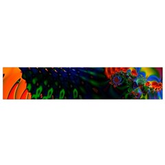 Colored Fractal Flano Scarf (Small)