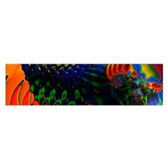 Colored Fractal Satin Scarf (Oblong)