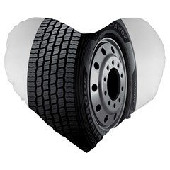 Tire Large 19  Premium Heart Shape Cushions