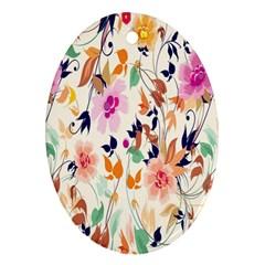 Vector Floral Art Ornament (Oval)