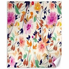 Vector Floral Art Canvas 16  x 20