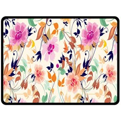 Vector Floral Art Double Sided Fleece Blanket (Large)