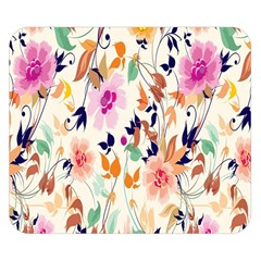 Vector Floral Art Double Sided Flano Blanket (Small)