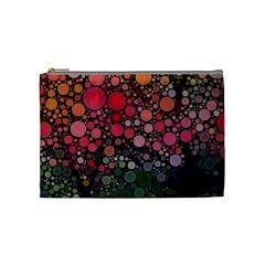 Circle Abstract Cosmetic Bag (Medium)