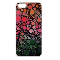Circle Abstract Apple iPhone 5 Seamless Case (White)