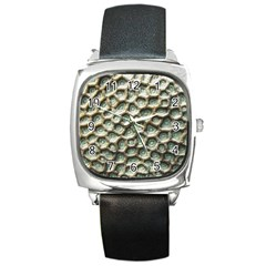 Ocean Pattern Square Metal Watch