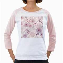 Leaves Pattern Girly Raglans