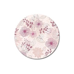 Leaves Pattern Magnet 3  (Round)