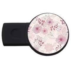 Leaves Pattern USB Flash Drive Round (2 GB)