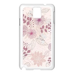 Leaves Pattern Samsung Galaxy Note 3 N9005 Case (White)