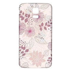 Leaves Pattern Samsung Galaxy S5 Back Case (White)