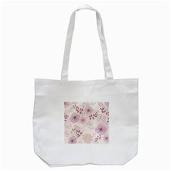 Leaves Pattern Tote Bag (White)