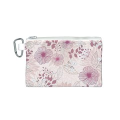 Leaves Pattern Canvas Cosmetic Bag (S)