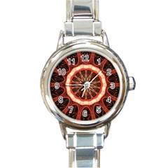 Circle Pattern Round Italian Charm Watch