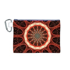 Circle Pattern Canvas Cosmetic Bag (M)