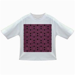Triangle Knot Pink And Black Fabric Infant/Toddler T-Shirts
