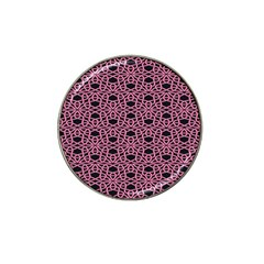 Triangle Knot Pink And Black Fabric Hat Clip Ball Marker (10 pack)