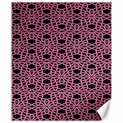 Triangle Knot Pink And Black Fabric Canvas 8  x 10