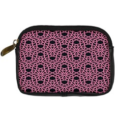 Triangle Knot Pink And Black Fabric Digital Camera Cases