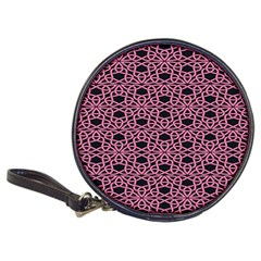 Triangle Knot Pink And Black Fabric Classic 20-CD Wallets