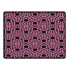 Triangle Knot Pink And Black Fabric Fleece Blanket (Small)