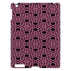 Triangle Knot Pink And Black Fabric Apple iPad 3/4 Hardshell Case