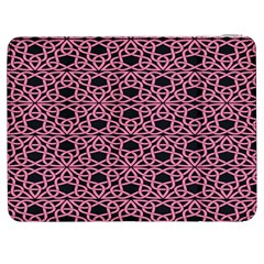 Triangle Knot Pink And Black Fabric Samsung Galaxy Tab 7  P1000 Flip Case