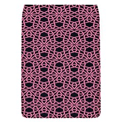 Triangle Knot Pink And Black Fabric Flap Covers (S)