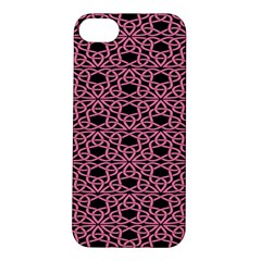 Triangle Knot Pink And Black Fabric Apple iPhone 5S/ SE Hardshell Case