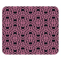 Triangle Knot Pink And Black Fabric Double Sided Flano Blanket (Small)